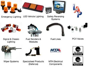 LAP Electrical's quality assured product range covers the following product groups