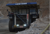 mining action shot